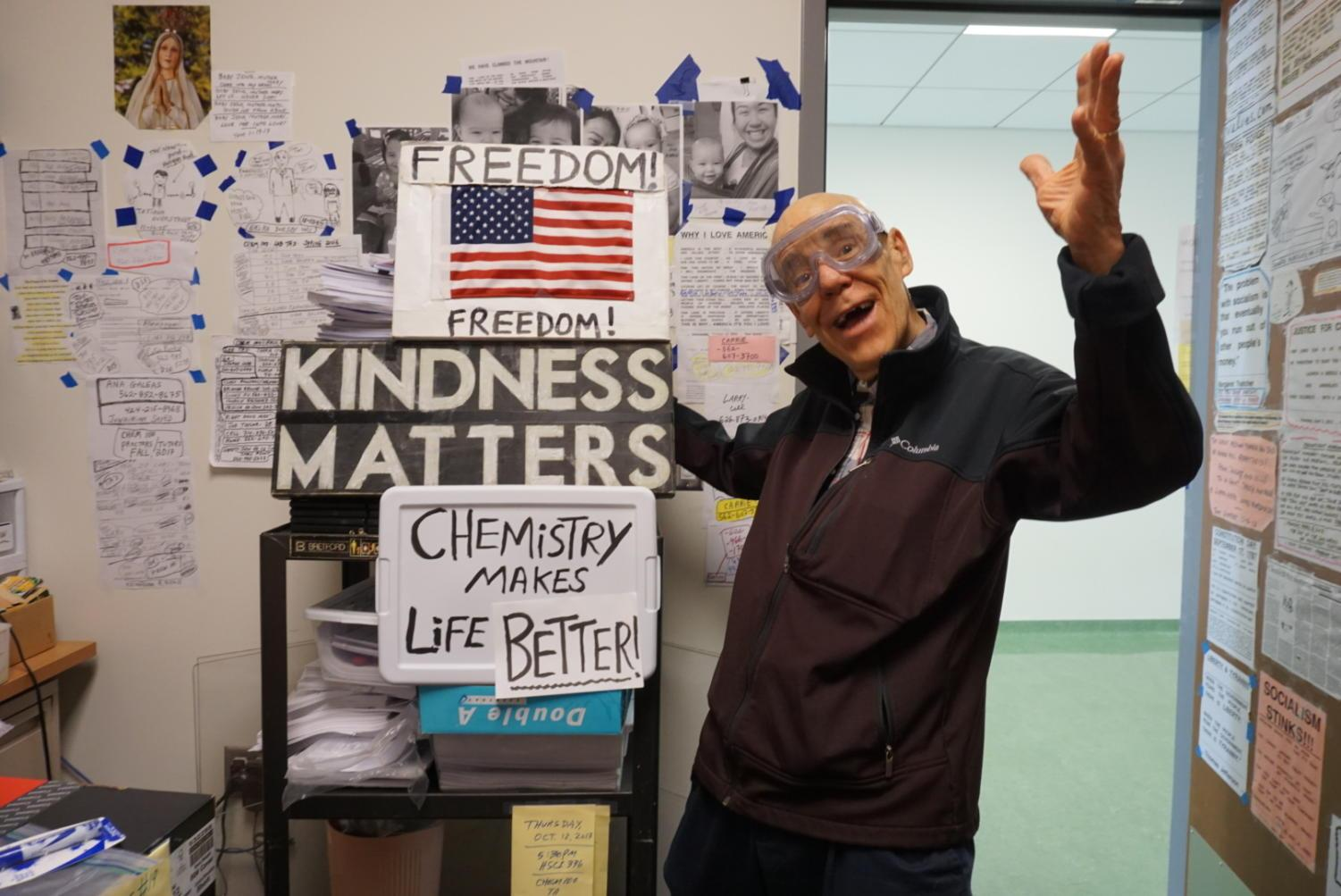 Tom Gufrey has been teaching chemistry and kindness at Cal State Long Beach for 40 years.